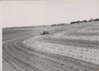 Cultivator in a field.