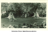 Dancers performing on lawn, The University of Iowa, June 5, 1922