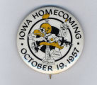 Homecoming badge, October 19, 1957