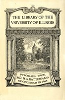 University of Illinois Library Mr. H.A. Rattermann Bookplate