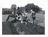 Tiling on Herman Schwartz farm, 1969