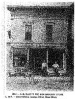 G.M. Elliott and Son grocery store in, Beaman, Iowa