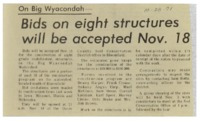 1971 - Bids on Eight Structures Will be Accepted Nov. 18