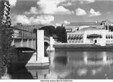 Iowa Memorial Union and Pedestrian Bridge, Iowa City, Iowa, bewtween 1946 and 1949