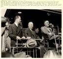 President Franklin Roosevelt arrives at campaign stop, Springfield, Ill., October 15, 1936