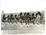 University of Iowa Scottish Highlanders perfomance at Edinburgh Festival, Edinburgh, Scotland, August 26, 1952