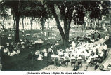Band concert in front of Schaeffer Hall (formerly the Hall of Liberal Arts), The University of Iowa, 1920s