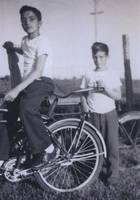 Gilbert and Bruno Andreini with Bicycles