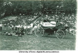 Halftime show of Iowa-Nebraska football game at Iowa Field, The University of Iowa, October 4, 1919