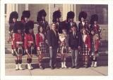 Small group of Scottish Highlanders, The University of Iowa, 1970