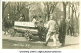 Parody of League of Nations capturing Germans, Mecca Day parade, The University of Iowa, 1919