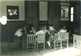 Children at mealtime, The University of Iowa, ca. 1920