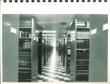 Periodicals shelving in Main Library, the University of Iowa, 1972