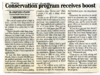 Conservation Program Receives Boost