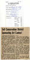 Soil conservation district sponsoring art contest.