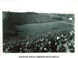 Football game at Kinnick Stadium, The University of Iowa, 1930s