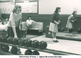 Students bowling, The University of Iowa, 1950s