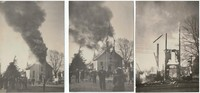 St. Peter Lutheran Church in Garnavillo, Iowa -1945 fire