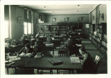 Studying in the Physics Library in the Physics Building, the University of Iowa, February 1925