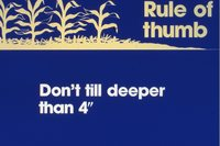 Rule of thumb for depth of till.