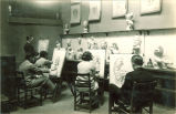 Students sketching images from casts, The University of Iowa, 1930s
