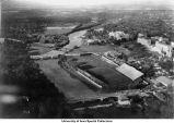 Iowa Field, Iowa River, Iowa City, Iowa, 1925