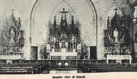 St. Joseph's Catholic Church in Garnavillo, Iowa -Interior
