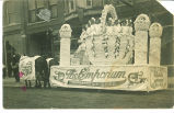 Girls on parade float, Dyersville, Iowa, August 23, 1910s?