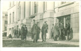 Students outside the Hall of Liberal Arts, the University of Iowa,  1910s