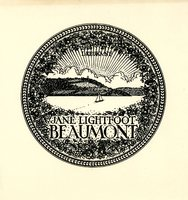 Jane Lightfoot Beaumont Bookplate