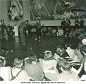 Jitterbug performance at modern art-themed costume dance, The University of Iowa, March  1940
