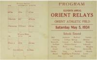 Orient, Iowa Relays - 1934