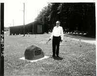 Carroll Rubow at dedication rock, 1968