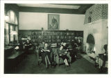 Students reading in Iowa Memorial Union library, the University of Iowa, March 25, 1932