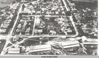 Aerial view Amana looking west, Amana, Iowa, between 1935 and 1945