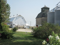 042. Barn, Corn Crib and Silos on Tyden Farm #4