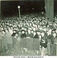 Crowd gathered for Homecoming celebration, The University of Iowa, 1940s?