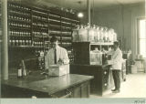 Laboratory at the hospital at Seashore Hall, The University of Iowa, between 1920 and 1925