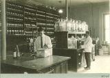 Laboratory at the hospital at Seashore Hall, The University of Iowa, between 1920 and 1925
