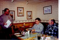 2000 - Jeff Bergman presents Landlord/Tenant Award to J.D. Stucker at the Country Kitchen Restaurant in Burlington in November 2000.