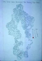 Iowa Great Lakes Watershed - West Okoboji Slope Study Map.