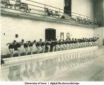 Halsey Pool deck, The University of Iowa, 1930s