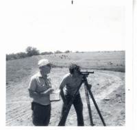 Survey on land with Ralph Oestern and John Summers