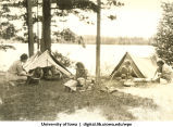Camping at Lake Hayward, Wisconsin, 1940s