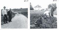 Pfab farm road and bridge destruction after flood, 1968