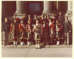 Small group of Scottish Highlanders, The University of Iowa, 1973