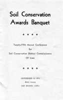 1971 Annual Soil Conservation Awards Banquet