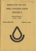 1971 Kossuth County Soil and Water Conservation District Annual Report