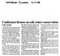 Conference Focuses on Soil, Water Conservation