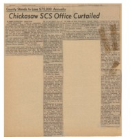 Chickasaw SCS office curtailed.